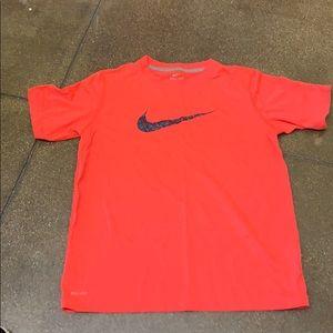 Nike neon orange dri fit T-shirt